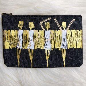 Ipsy Glam Bag 💄 Black, White, & Gold Makeup Bag